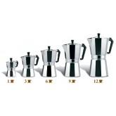 MOKA POT หม้อต้ม กาแฟ เอสเพรสโซ่ อลูมิเนียม 3 cups Ver.1 espresso pot เครื่องชงกาแฟสด โมก้าพอท