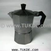 โมก้าพอท 3cups อลูมิเนียม สีดำ moka pot aluminium black 3Espresso Shots กาต้ม กาแฟสด เอสเพรสโซ่ 3cup
