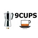 MOKA POT หม้อต้ม กาแฟ เอสเพรสโซ่ อลูมิเนียม 9 cups Ver.1 espresso pot เครื่องชงกาแฟสด โมก้าพอ
