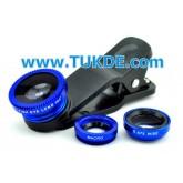 เลนส์เสริม Universal Clip Lens สีฟ้า โทรศัพท์มือถือ เลนส์คลิป เลนส์หนีบ Mobi-Lens clip KIT–SHOOT