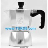 MOKA POT Ogni ora หม้อต้ม กาแฟ เอสเพรสโซ่ 3 cup สีเงิน หม้อต้ม กาแฟสด เครื่องทำ กาแฟสด