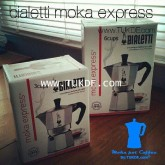 Bialetti ® Moka Express 6 Cups ขนาด 6 shot/cups Italy (300ml.) หม้อต้ม กาแฟสด