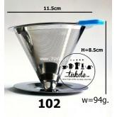 แก้ว ดริป กาแฟสด กรอง สแตนเลส2ชั้น ขนาด102 =2-4 แก้ว ไม่ต้องใช้กระดาษกรอง Clever Coffee Dripper