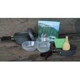 ชุดหม้อสนาม ปิคนิคแบบพกพา 8-in-1 อุปกรณ์ทำอาหารตั้งแคมป์ 8-in-1 Mini Outdoor Cooking Picnic Tool