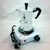 เตาไฟฟ้า ขนาดเล็ก รุ่นใหม่ เบาที่สุด ปุ่มปรับ5ระดับ Hot Plate MINI stove Electric for MOKA POT