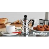 หม้อต้ม กาแฟ สดAlessi ®  Moka Pot  coffee makers หม้อต้ม กาแฟ สด เอสเพรสโซ่ อลูมิเนียม 3 คัพ/ช๊อตmok