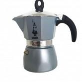 Bialetti หม้อต้ม กาแฟ moka pot รุ่น moka Dama ขนาด3 Cup สีเทา (grey)(3 cup) moka pot