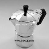 MOKA POT Ogni ora VER1 หม้อต้ม กาแฟ เอสเพรสโซ่ 6 cup สีเงิน หม้อต้ม กาแฟสด เครื่องทำ กาแฟสด