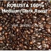 เมล็ดกาแฟคั่ว  โรบัสต้า 100 คั่วเข้ม ROBUSTA 100 (DARK Roast) สำหรับ MOKA POT/drip filter