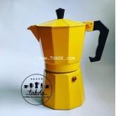 MOKA POT Ogni ora VER1 หม้อต้ม กาแฟ เอสเพรสโซ่ 6 cup สีเหลือง yellow moka pot กาแฟสด