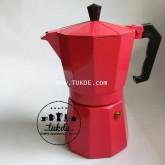 MOKA POT Ogni ora VER1 หม้อต้ม กาแฟ เอสเพรสโซ่ 6 cup สีชมพู pink moka pot กาแฟสด