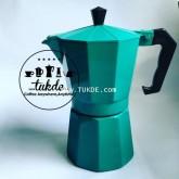 MOKA POT Ogni ora VER1 หม้อต้ม กาแฟ เอสเพรสโซ่ 6 cup สีเขียว green moka pot กาแฟสด
