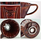 กาแฟดริป  แก้วดริปกาแฟ รูเดียว เซรามิค Tiamo dripper สีน้ำตาล Ceramic Coffee Dripper ถ้วยกรองกาแฟ