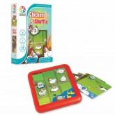 (6 ขวบ - ผู้ใหญ่) บอร์ดเกมพัฒนาสมองซีกซ้ายขวา วางแผน Chicken Shuffle (ของแท้จากเบลเยี่ยม Smart Games