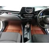 พรมปูพื้นรถยนต์ CHR 3D 5D 6D เข้ารูปผลิตจากหนัง Polyurethane แท้