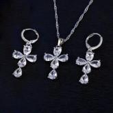 ชุดเครื่องประดับ Jewelry Gift Set - Cross 2120 - สีเงิน