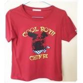 เสื้อยืดคอกลมสีแดง size XL