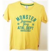เสื้อยืดคอกลมสีเหลือง ยี่ห้อ MonsterGang size 8