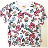 เสื้อยืดคอกลมสีเทาอ่อน ลาย angrybirds size 150