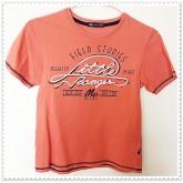 เสื้อยืดคอกลม สีส้ม ยี่ห้อ Mac แท้ size age 7-8 year