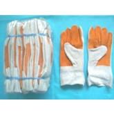 ถุงมือหนัง สองสี
