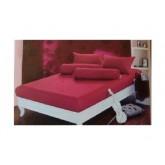 ชุดผ้าปูที่นอนสีพื้น สีบานเย็น ขนาด 6 ฟุต มี 5 ชิ้น โทร 081-8175244,02-7374802-3