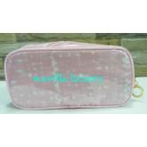 กระเป๋าเครื่องสำอางแท้...Estee Lauder Pink Cosmetic Bag