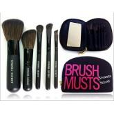 SIVANNA BRUSH MUSTS 5 ชิ้น  สีดำ เซตแปรง Travel Brush Set ขนนุ่มมาก+กระเป๋าอย่างดี มาพร้อมกระเป๋ามี