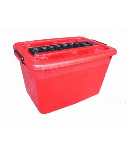 กล่องมีล้อ 200-3 80 Lt สีแดง B