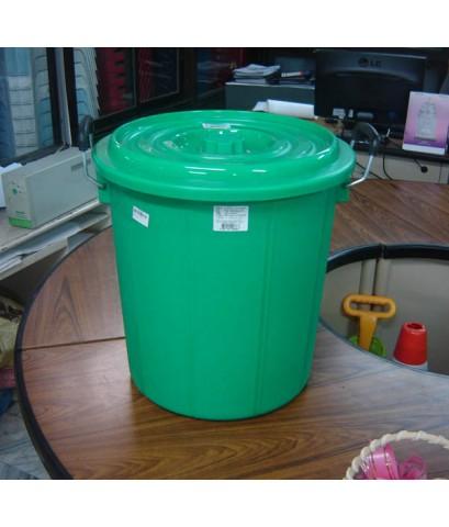 ถังน้ำ+ฝา 10 gl 666 สีเขียว