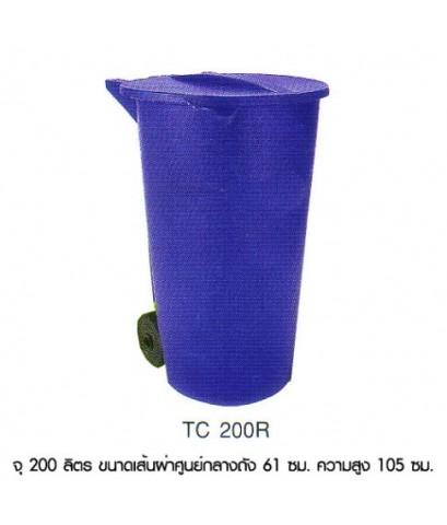 ถังขยะ TC-200R ฝาเรียบ สีเทา