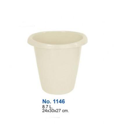 ถังขยะกลม No.1146 สีขาว