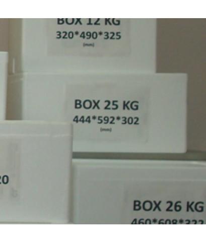 กล่องโฟม Box 25 kg. 442x592x302mm.