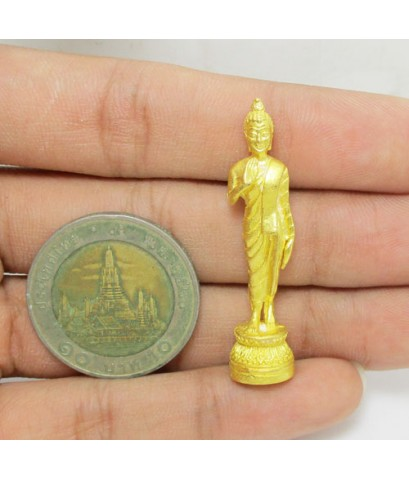 พระพุทธอภัยมงคลสมังคี 50 ปี กาญจนาภิเษก ธนาคารกสิกรไทยจัดสร้าง เนื้อทองคำ ตอกโค้ด นน. 15.41 g