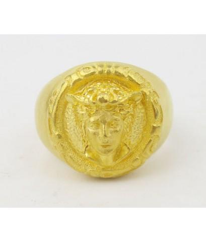 แหวน Prima Gold ทอง24K ลาย Versace งานสวยมาก นน. 18.45 g