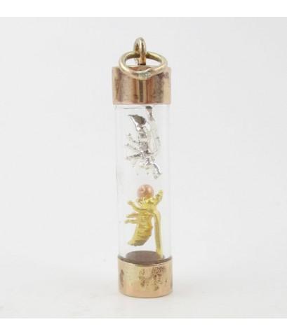 พญาต่อเงิน ต่อทอง โชคลาภ ค้าขาย ครอบแก้ว เลี่ยมนาก40 นน. 3.18 g