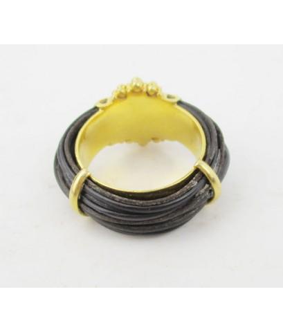 แหวน หางช้าง เกาะทอง กระจุกไข่ปลา ทอง90 งานเก่า หลุดจำนำ หายาก นน. 7.70 g