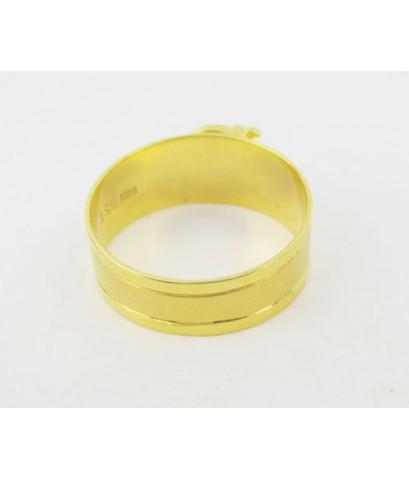 แหวน อักษร D ทอง90 งานเก่า หลุดจำนำ สวยมาก นน. 3.45 g