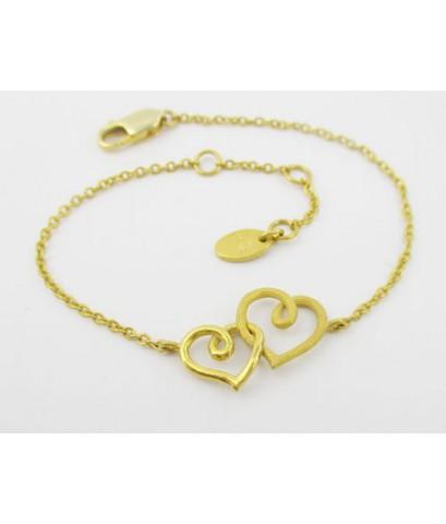 สร้อยข้อมือ Gold Master ทอง24K ลายหัวใจคู่ งานสวย น่ารักมาก นน. 4.46 g