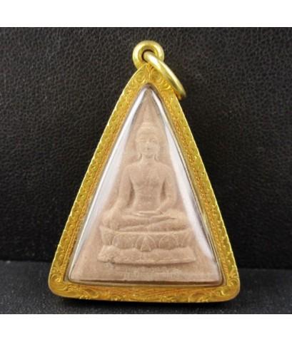 พระพุทธนวราชบพิตร พิมพ์จิตรลดา โครงการหลวง 50 ปี กาญจนาภิเษก เนื้อผง เลี่ยมทองเก่า นน. 10.86 g