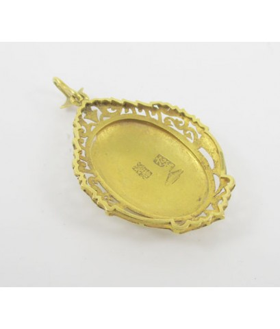 จี้ ทองลงยา นกกระเรียน ฉลุลาย ทอง90 งานสวย น่าเก็บสะสม นน. 6.05 g