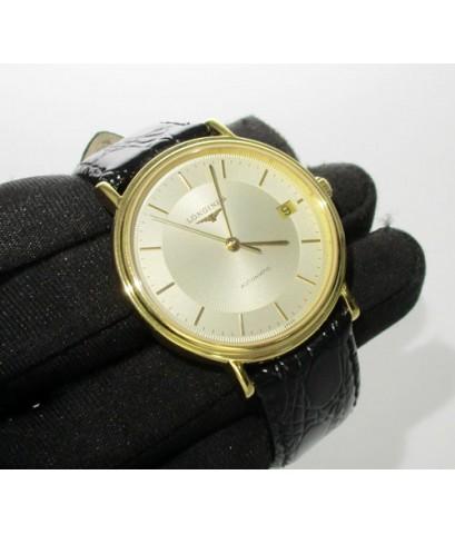 นาฬิกา Longines AUTOMATIC เรือนทอง Stainless Steel สายหนัง สวยน่าสะสม นน. 36.56 g
