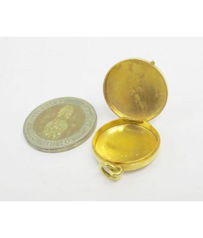 จี้ ตลับ ทองลงยา ลิง ปีวอก นกบินคู่ เปิดได้ ทอง90 งานเก่า สวยน่าสะสม นน. 7.58 g