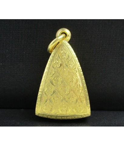 พระสมเด็จนางพญา สก. เนื้อทองคำ ปี 2535 เลี่ยมตลับทอง นน. 31.82 g