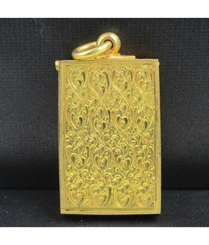 ตลับพระ สมเด็จ ยกซุ้ม แกะลายไทย ทอง90 งานเก่า สวยน่าสะสม นน. 23.76 g
