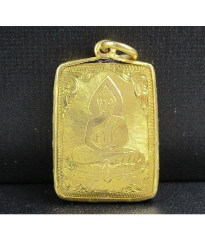 ล็อกเก็ต เทพเจ้ากวนอู เลี่ยมทองเก่า ปิดหลัง สวยน่าสะสม นน. 10.64 g