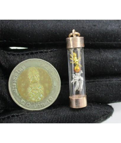 พญาต่อเงิน ต่อทอง โชคลาภ ค้าขาย ครอบแก้ว เลี่ยมนาก40 นน. 3.23 g