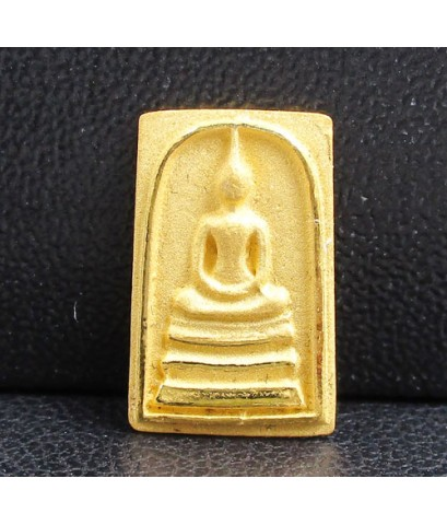 พระสมเด็จคะแนน ลอยองค์ เนื้อทองคำ สวยน่าสะสม นน. 1.30 g