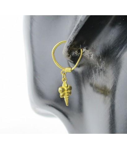 ต่างหู ห่วงทอง แมงปอ ตุ้งติ้ง ทอง96.5 งานสวย น่ารักมาก นน. 1.90 g