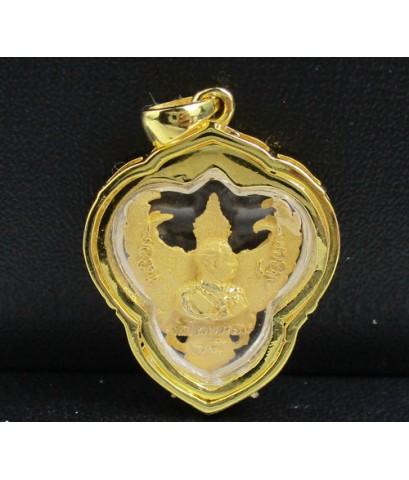 องค์พญาครุฑ  เนื้อทองคำ กรอบทอง ฝังเพชร 17 เม็ด 0.18 กะรัต นน. 6.74 g
